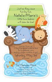 noah ark baby shower noah s ark baby shower diecut invitation
