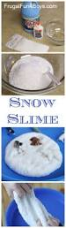 how to make snow slime snow fun winter activities and slime