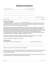 free connecticut roommate room rental agreement form word