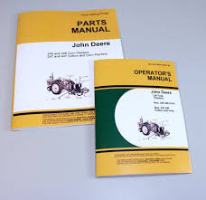john deere 246 446 247 447 corn cotton planter operators manual
