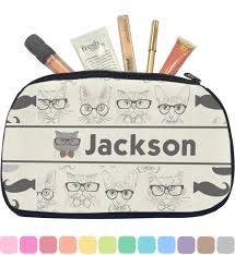 hipster cats u0026 mustache makeup cosmetic bag personalized