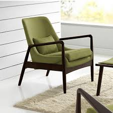 Mid Century Outdoor Chairs Baxton Studio Carter Mid Century Green Fabric Upholstered Accent