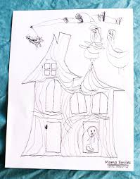 free halloween haunted house printable easy halloween fun for kids