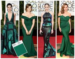 Emerald Green Home Decor by Focal Point Styling Pantone Palette On The Golden Globes Red Carpet