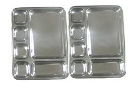 tray plates qualways big rectangular tray stainless steel cing plates set