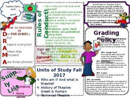 creative syllabus templates for theatre teachers by you can make