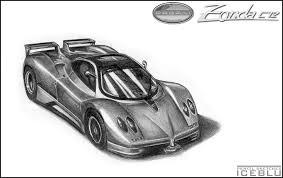 pencil sketch pagani zonda c12 by iceblu on deviantart