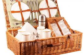 picnic basket set for 4 the ascot picnic a luxury picnic from amberley hers