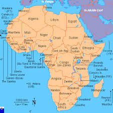 africa map in clickable map of africa