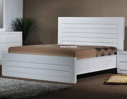 bedroom luxury sienna modern bed in white lacquer opt two