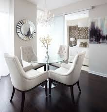 Contemporary Dining Room Chair Contemporary Dining Room With Rounded Glass Table And Cozy Dining