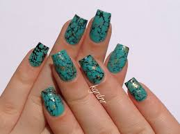 turquoise stone lacquerstyle com turquoise stone nails tutorial