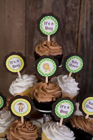 king of the jungle cupcake toppers baby shower decorations