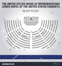house of reps seating plan united states house representatives lower house stock vector