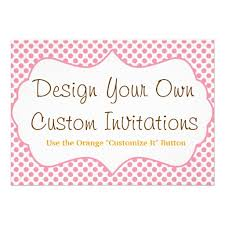 designs create your own baby shower invitations