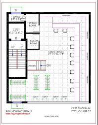 Commercial Complex Floor Plan Best Commercial Complex Design In 1188 Square Feet U2013 04