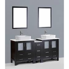 84 Inch Double Sink Bathroom Vanity by Contemporary 72 Inch Espresso Double Rectangular Vessel Sink
