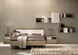 incridible custom floating shelf hang on grey accent wall bedroom