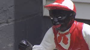 black faced lawn jockey creates controversy among neighbors wavy tv