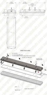 vapor proof fluorescent light fixtures t8 led vapor proof light fixture for 4 led t8 tubes industrial