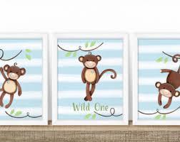 Monkey Rug For Nursery Monkey Nursery Decor Etsy