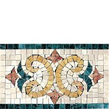 Mosaic Border Tiles Mosaic Border Tile Marble Wall Mounted For Floors Artistic
