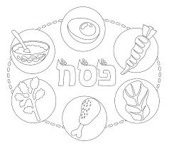 seder plate coloring haggadot