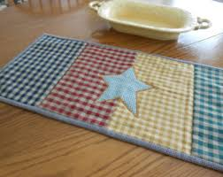 Primitive Table Runners by Country Table Topper Etsy