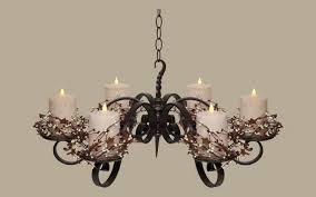 Chandelier Candle Charming Wrought Iron Candle Chandelier On Interior Designing Home