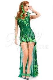 Green Halloween Costume Poison Ivy Ivy Train Costume Halloween Costume Monokini