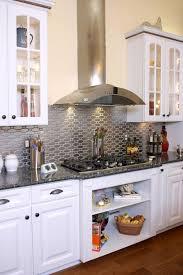 metallic kitchen backsplash 15 chic metallic kitchen backsplash ideas home info