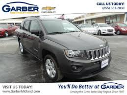 jeep crossover 2016 pre owned 2016 jeep compass sport suv in midland 20714066p garber