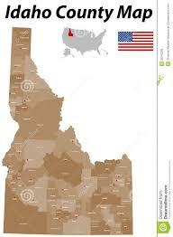 map of idaho cities idaho county map stock vector image 39243296