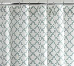 Aqua Blue Shower Curtains Marlo Organic Shower Curtain Pottery Barn