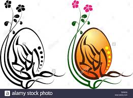 easter egg tattoo vector art stock vector art u0026 illustration