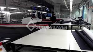 Commercial Fabric Cutting Table High Speed Garment Fabric Laser Cutting Machine Golden Laser