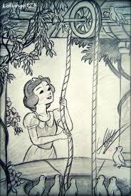 snow white sketch nightmonster123 deviantart