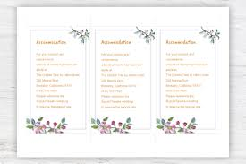 Accommodation Cards For Wedding Invitations Wedding Invitation Set Printable Apple Blossom Style Watercolor By