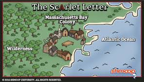 Map Of Salem Massachusetts by The Scarlet Letter Setting