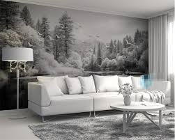 popular 3d black and white forest wallpaper buy cheap 3d black and custom wallpaper living room bedroom fresco nordic black and white forest lakes tv background wall mural 3d wallpaper beibehang