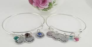 personalized mothers day bangle bracelet only 14 95 reg 24 95