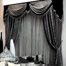 black color curtain design for contemporary living room