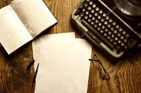 bureau d ecrivain bureau d écrivain avec rétro de la machine à écrire photographie