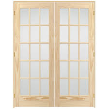 15 light french door steves sons 60 in x 80 in 15 lite glass solid core unfinished