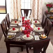 dining room table setting christmas dining room decoration table setting holly berry holiday