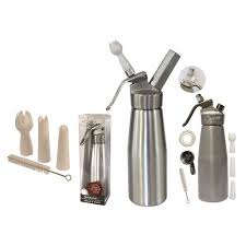 siphon de cuisine siphon en aluminium chaud et froid contenance 500 ml gris