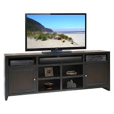 Corner Wood Tv Stands Plateau Newport 80 In Corner Wood Tv Stand Black Oak Finish