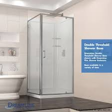 36 Shower Doors Dreamline Corner Shower Enclosure And Shower Base Kit 36 In