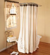 Bathroom Window Curtains Wonderful Matching Shower And Window Curtains And Interesting