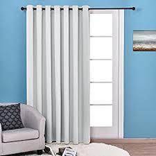 Patio Door Panel Curtains by Amazon Com Sun Zero Barrow Energy Efficient Patio Door Curtain